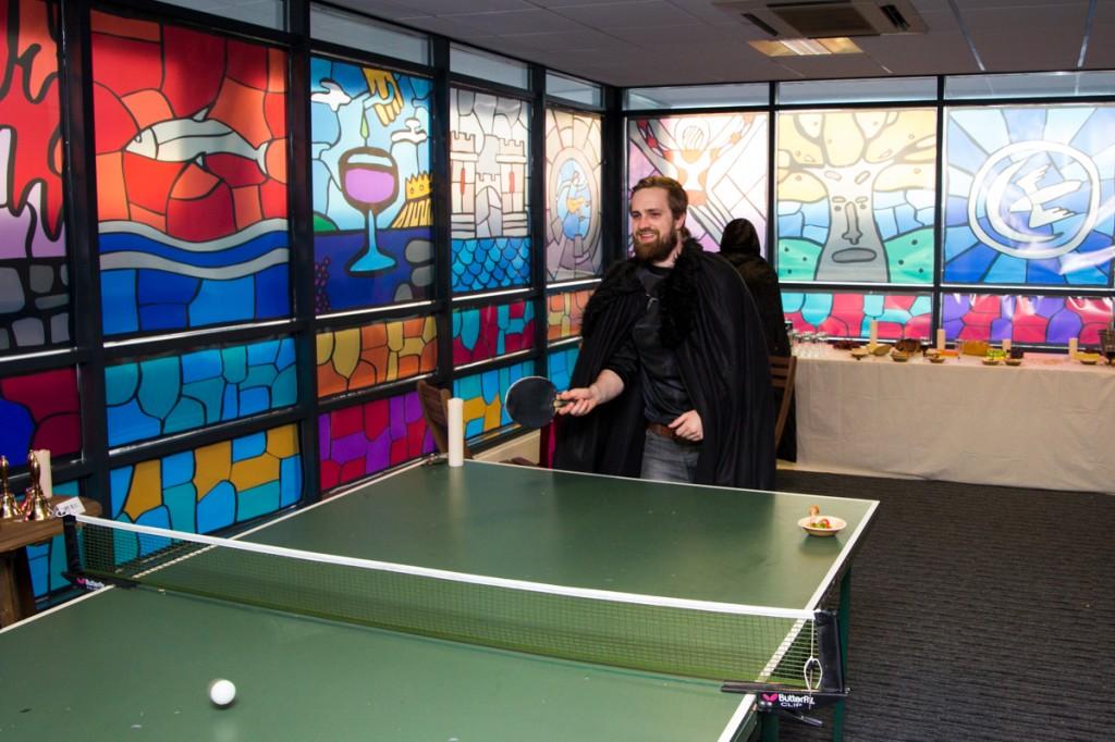 Pingpong tafel in gamesroom