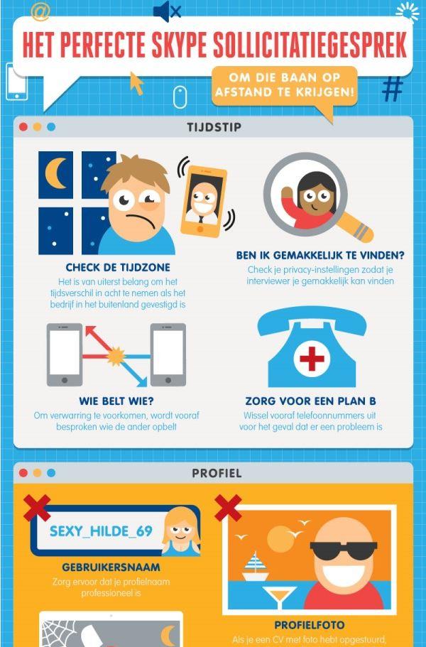 Een uitsnede van het complete infographic over het perfecte Skype interview