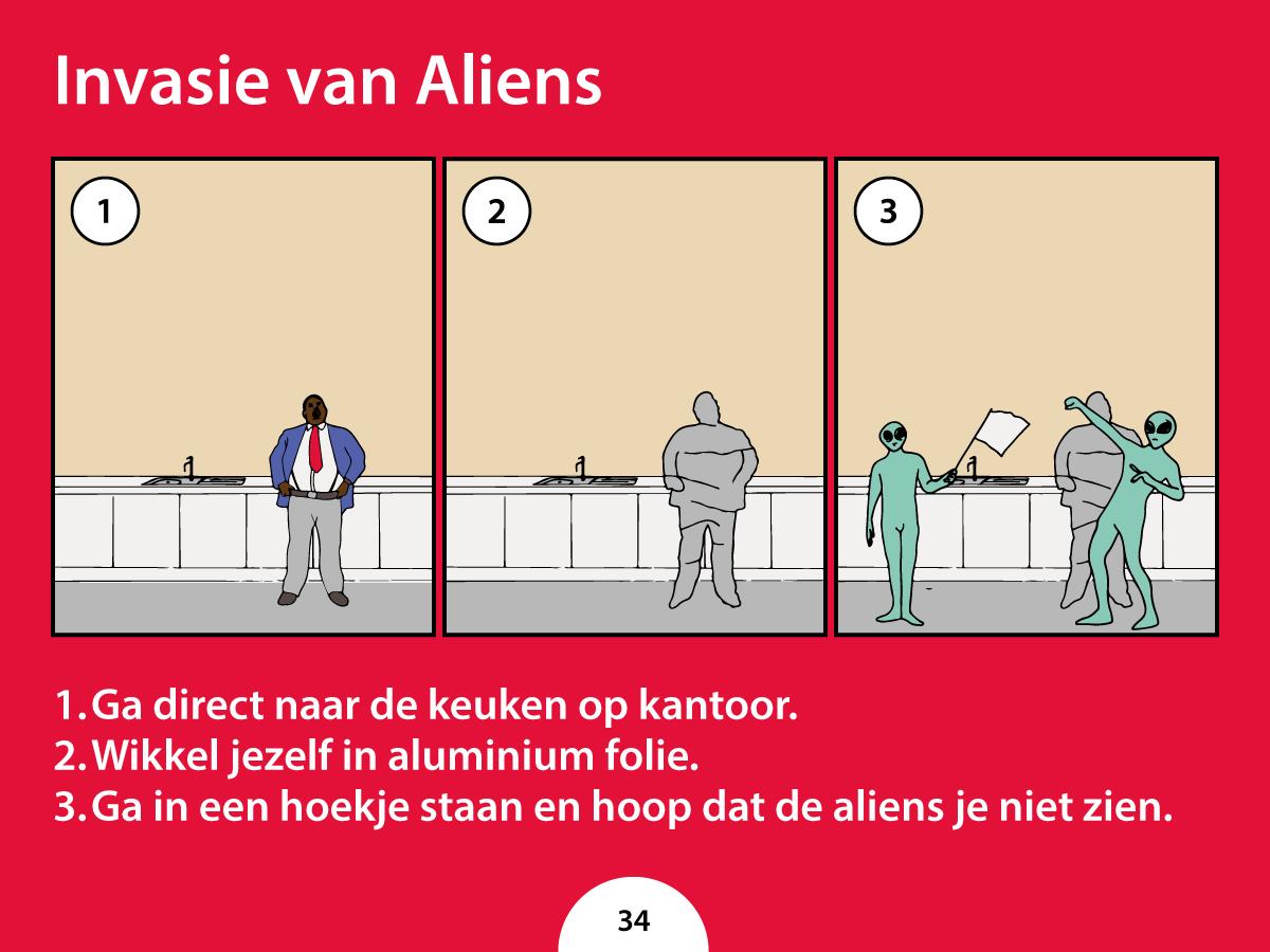 Wat moet je doen als je kantoor door aliens wordt overgenomen?