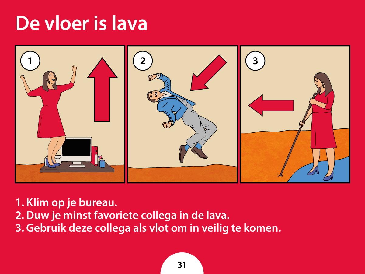 Wat moet je doen als je werkvloer in lava verandert?