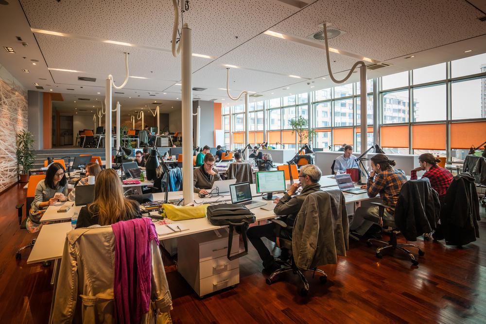 volle kantoorruimte